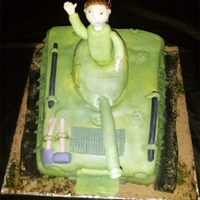Armytank   chocolate cake fill with marshmallow frosting