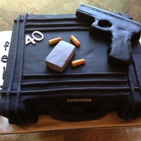 Gun Case Cake Rkt Gun Coverered In Modeling Chocolate   Gun case cake, rkt gun coverered in modeling chocolate