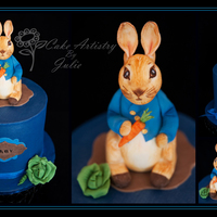 Peter Rabbit Baby Shower Here's a very cute Peter Rabbit baby shower cake. I just love the little Peter Rabbit fondant topper! He was so much fun to make, with...