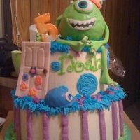 Monsters Inc A Monsters Inc/Mike Wazowski birthday cake for a friend's son. This was inspired by a picture my friend found online, but I'm not...