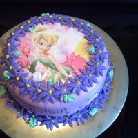 Tinkerbell Thanks for all the inspiration on here. This cake was covered in fondant and the picture is an image printed from a regular printer and...