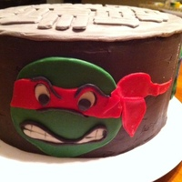 Teenage Mutant Ninja Turtle Birthday Cake Raphael's ready to take on all the bad guys. After pizza, of course.