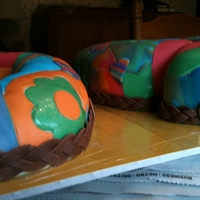 Tie Dye 50Th Hippie Birthday Cake