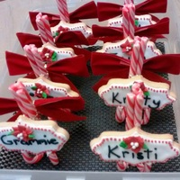 Cookies On Candy Cane Stands