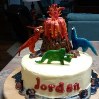 Dinosaur/volcano Cake For 3 Year Old Boy