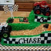 Monster Truck Cake For A 3 Year Old Monster truck cake for a 3 year old