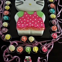 Hello Kitty For 100 people i make this chocolate (allways i think xaxaxa) cake with wippet cream and strawberrys filling and sugar paste fontant and...