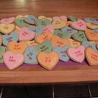 Pile O' Sweethearts Cookies! Pile of sweethearts anyone? Loved making these fun cookies. Used edible marker for the words.