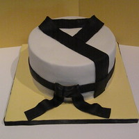 Martial Arts Uniform Cake Inspired By Cherrys Cakes Loved The Simple Design All Fondant Martial arts uniform cake inspired by Cherry's Cakes. Loved the simple design. All fondant.