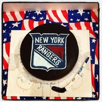Ny Rangers True Blue For my husband who is a die hard NY Rangers fan...I tried to make it look like a puck coming out of ice. the sides are cut all around and...