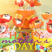 Mother's Day Poppy Flower Cake Pop's Cake balls are made of lime cake with the petals made of fondant.