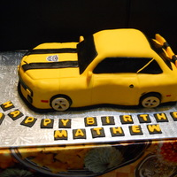 Transformer Bumblebee Camaro This cake I made for my friend's son who was turning 7. This was my second time making a car cake, was glad at how it came out. Enjoy...