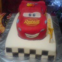 Lightning Mcqueen I made this cake for a friend's grandson who was turning one year old. This was my first time carving out a cake!