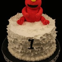 Elmo Cake Smash cake for baby. WASC with buttercream frosting and of course, Elmo.
