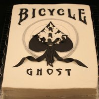 Bicycle Magic Card Game Double Chocolate with buttercream frosting with Fondant accents.