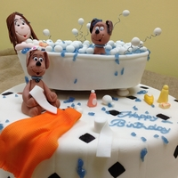 Bathtub My daughter's cake!