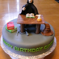 Professor Snape I had a request to make a Professor Snape cake from Happy Potter. I loved making this cake. I added the sorting hat because it is just so...