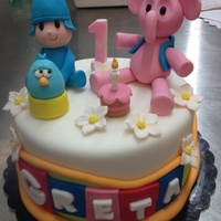 Pocoyo Cake For a little girl!Made by me in Sweety Rome Bakery