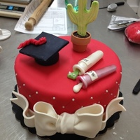 Botanic Graduation Cake Made by me in Sweety Rome Bakery