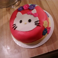 Hello Kitty   this was for a 3 year olds bday. made my own fondant-YUMMY!