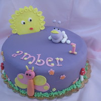 Tulli This colourful cake was done for little Amber who turned 1 year today!
