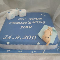 A Welcome For Gio Christening Cake