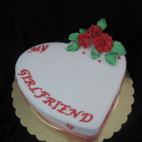 Love Heart Cake A vanilla sponge cake decorated romantically for a special lovers occasion