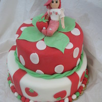 Strawberry Shortcake A two-tier cake made for this little girl Asia for her birthday as she loves Strawberry Shortcake