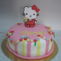 Hello Kitty A marble cake with loads of colours decorated for a little girl