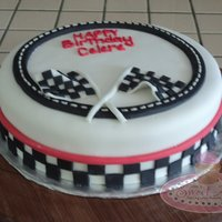 Race Themed Birthday Cake