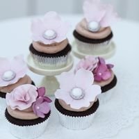 Flowers, Vintage Buttons, And Frills   Chocolate cupcake with Chocolate cream cheese frosting