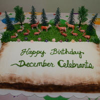 Deer And Forest December Celebrants' Cake   December Celebrants Deer and Forest Carrot Cake