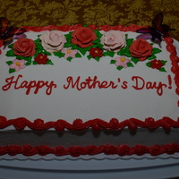 Happy Mother's Day Roses, Flowers, And Butterflies May 10, 2014 - I baked and decorated this Mother's Day pineapple chiffon cake for my Church's Mother's Day celebration...
