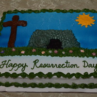 Happy Resurrection Day  April 19, 2014 - I decorated this Happy Resurrection Day carrot cake for my Church's Easter Sunday Celebration. This cake design...