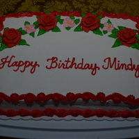 Happy Birthday Mindy   May 23, 2014 - I decorated this birthday carrot cake for my friend Mindy's Birthday.