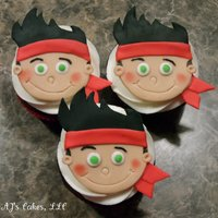 Jake And The Neverland Pirates Cupcakes! 38 chocolate/white cake cupcakes with whipped buttercream and handcut fondant toppers. Thanks for looking! ;)