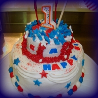 1St Birthday Independence Day Cake