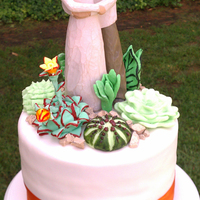 Succulents Wedding Cake & Cupcake