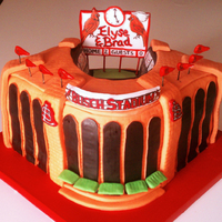St. Louis Cardinals, Busch Stadium Cake Groom's Cake for a Cardinals fan