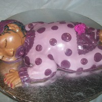 3D Baby Cake i had so much fun making her !!!
