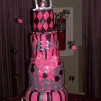 Sweet 15 Cake It Was Over 4 1/2 Feet Tall