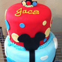 Mickey Birthday Cake With Smash Cake Mickey Mouse cake with smash cake