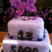 Purple Girlie Cake With Edible Sixlets For Ball Border Purple girlie cake with edible sixlets for ball border
