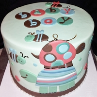 Baby Boy Shower Cake (Carters Laguna Theme)