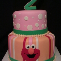 Pink Elmo Birthday Pink Elmo birthday cake