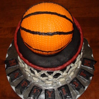 Basketball my sons 13 th b-day cake, inspired by others on CC