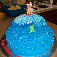 Title Wave Cake pound cake made this cake with my friend charis for her sons Bday