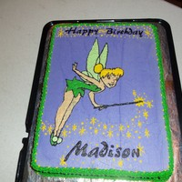 Tinker Bell my hubby's first solo cake... he helps me alot but decided to do this one on his own... awesome job!!