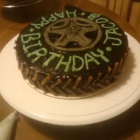 Monster Truck Tire Smash Cake