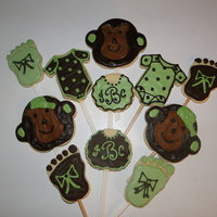 Monkey Cookies For Baby Shower